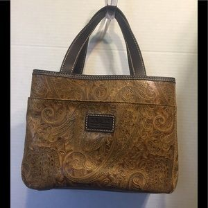 Relic's Paisley Texture Faux Leather Satchel